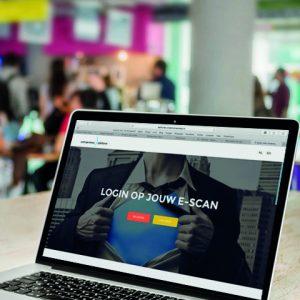 E-Scan voor studenten login-pagina